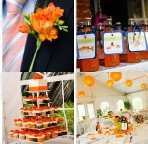 Déco mariage orange