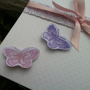 Faire part naissance ou baptême papillons blanc