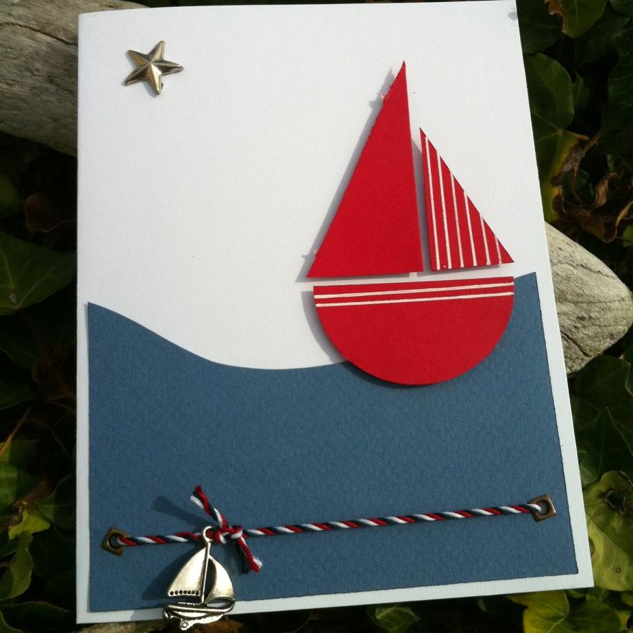 Carte «bateau sur l'eau»