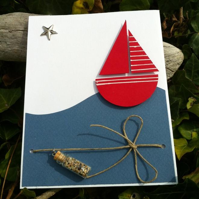 carte faite main bord de mer