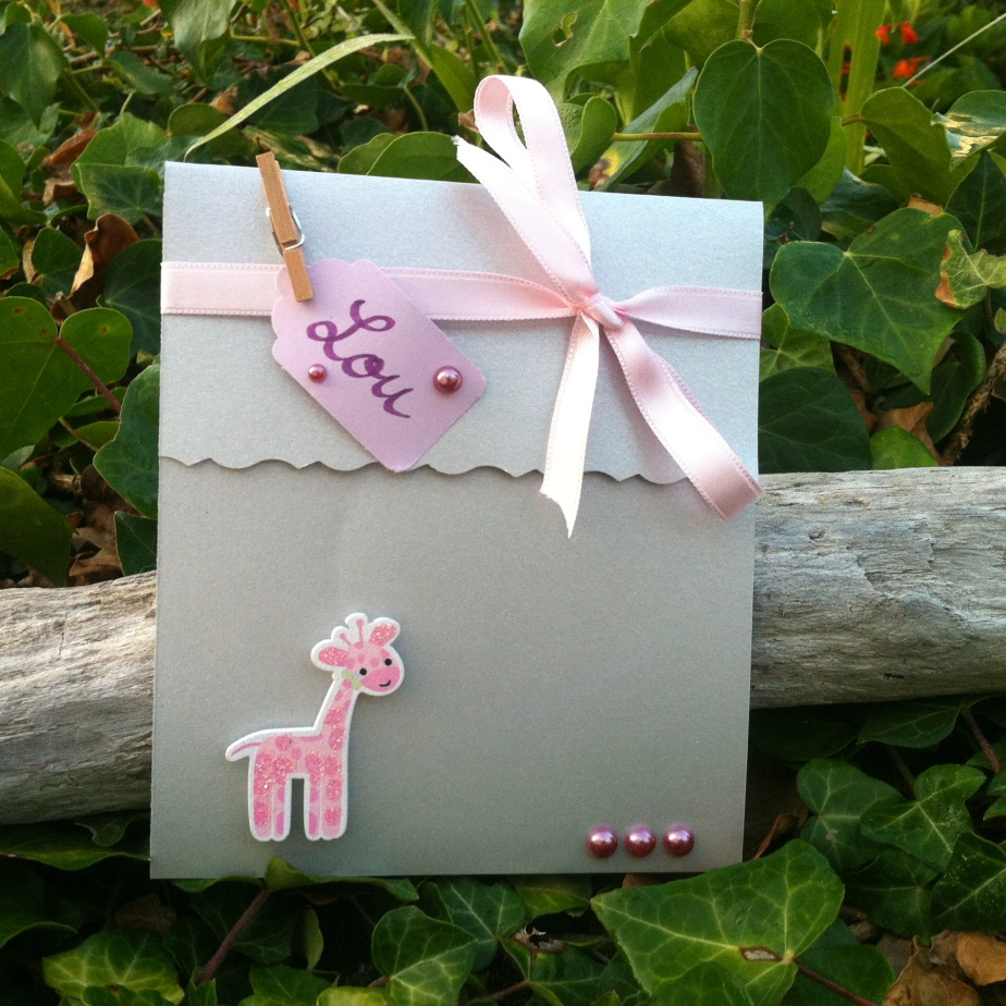 Faire-part de naissance «girafe»