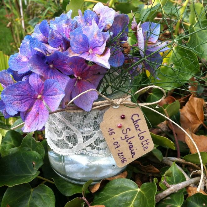 soliflore, déco mariage, déco table, marque place, porte nom, fleur, vase, centre de table