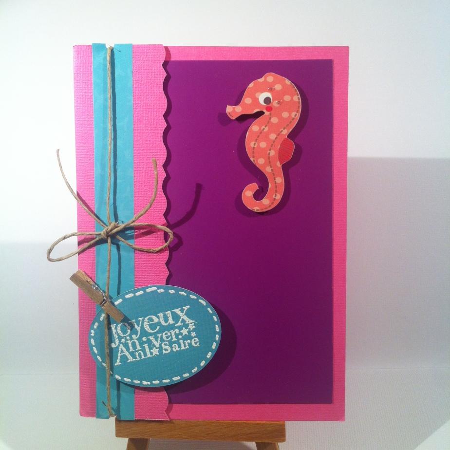 Carte d'anniversaire «hippocampe»