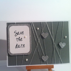Carte gris et argent save the date 5