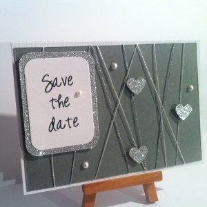 Carte gris et argent save the date 9