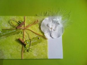Faire part de mariage champêtre, simple, naturel et fleuri