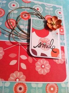 Carte colorée et fleurie
