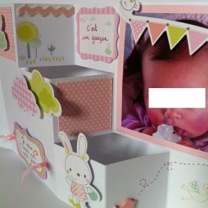 Carte pop up annonce grossesse ou annonce du sexe du bébé