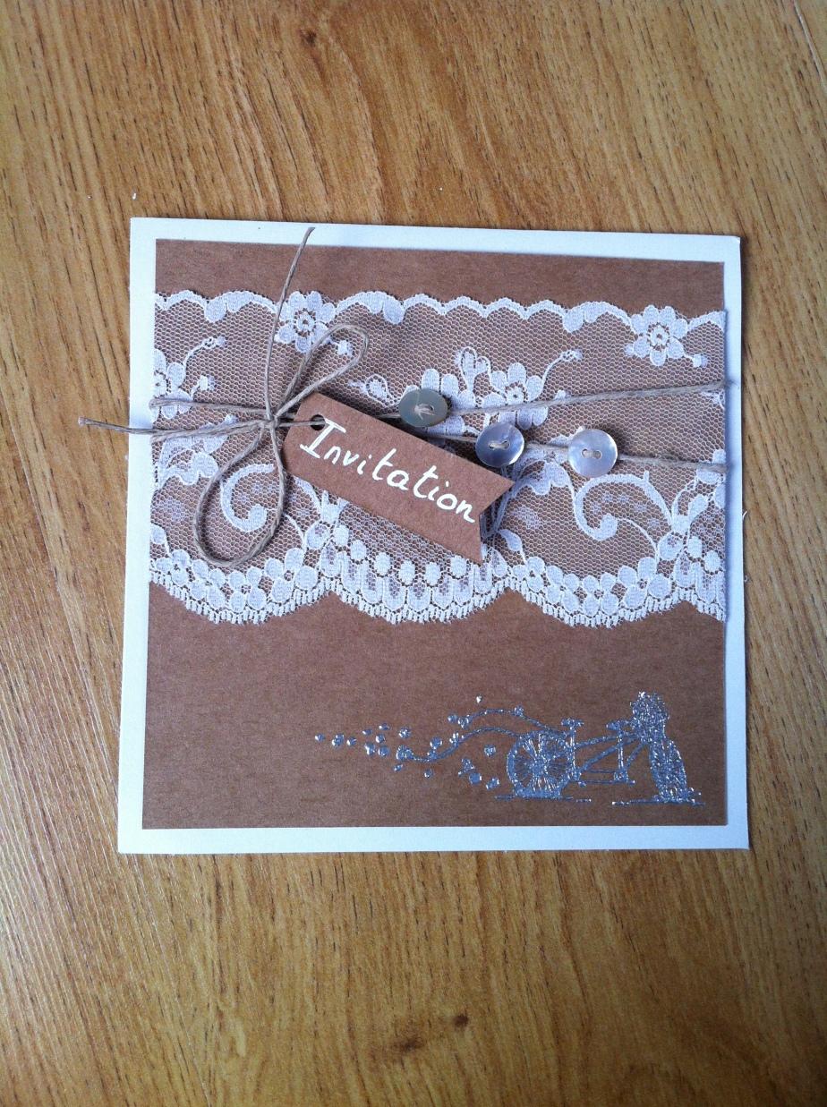 Faire-part d'invitation mariage bohèmechic