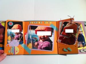 Mini album naissance, bébé, enfant, poisson, mer, mixte