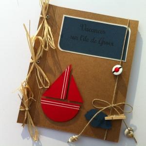 Mini-album photos à personnaliser thème mer - bateau, beret de marin, coquillage - mon faire-part est unique 3