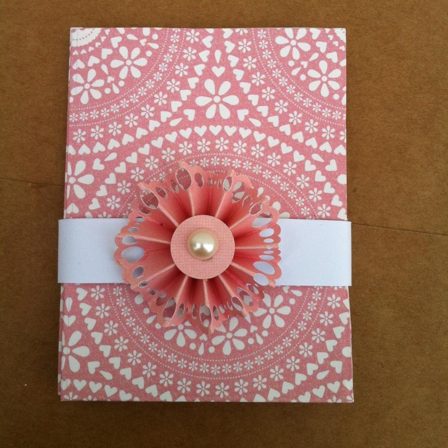 Porte cartes rose et sarosace