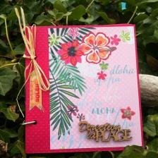 Mini album photo à compléter, rose fuchsia - thème mer