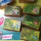 boîte à dragée ou ballotin, cadeaux aux invités, tropical, exotique