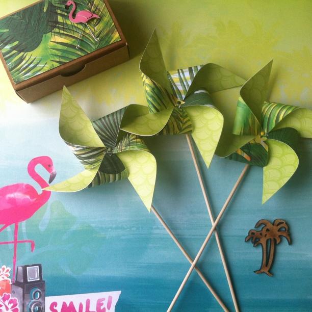 Moulins à vents exotiques, tropical