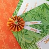 Faire-part de mariage bambou, thème tropical ou zen
