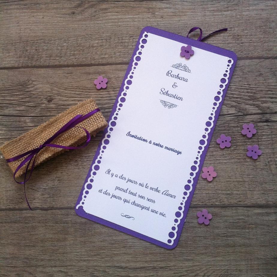 Faire-part «Les violettes de Toulouse»