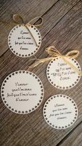 Etiquettes citation poème mariage pour sachets de graines à semer cadeaux invités mariage original 1