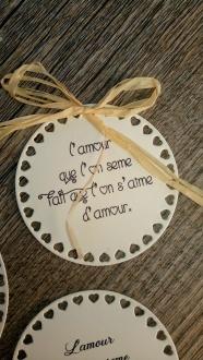 Etiquettes citations poème pour sachets de graines à semer -cadeau original invités mariage 2