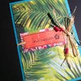 Faire-part tropical - exotique palmier hawaï 2
