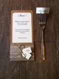Mariage dentelle - marique place, menu, range-couvert, décoration de table mariage champêtre, original