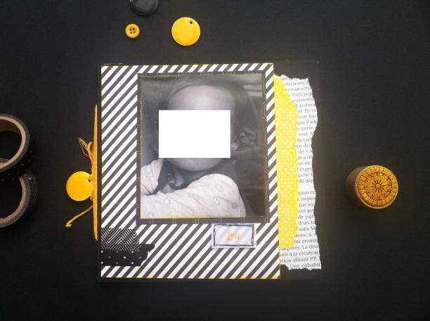 Mini album jaune noir et blanc - Mon faire-part est unique 1