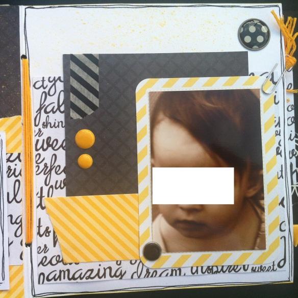 Mini album jaune noir et blanc - Mon faire-part est unique 10