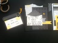 Mini album jaune noir et blanc - Mon faire-part est unique 12