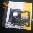 Mini album jaune noir et blanc - Mon faire-part est unique 13