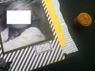 Mini album jaune noir et blanc - Mon faire-part est unique 2