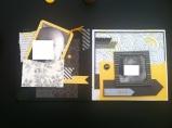 Mini album jaune noir et blanc - Mon faire-part est unique 3