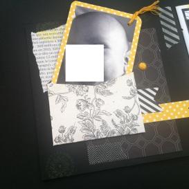 Mini album jaune noir et blanc - Mon faire-part est unique 4