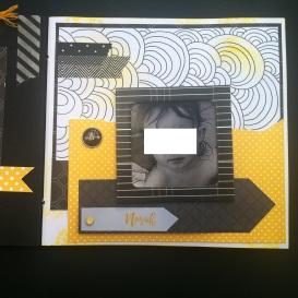 Mini album jaune noir et blanc - Mon faire-part est unique 5