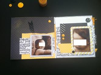 Mini album jaune noir et blanc - Mon faire-part est unique 6