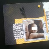 Mini album jaune noir et blanc - Mon faire-part est unique 7