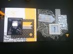 Mini album jaune noir et blanc - Mon faire-part est unique 8