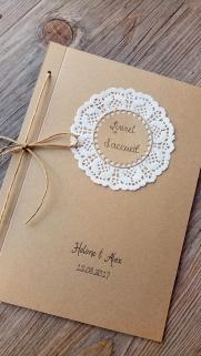 Collection mariage livret de cérémonie, livret de messe, livret du témoin de mariage, carte demoiselle d'honneur, carte de félicitation mariage, carte de remerciement mariage, faire-
