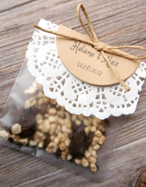 Sachet de graines à semer - cadeau invités mariage