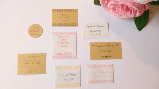 Etiquettes autocollantes petits pots de miel confiture cadeaux invités mariage 2