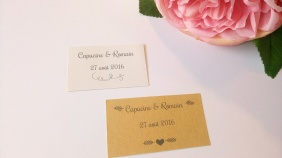 Etiquettes autocollantes petits pots de miel confiture cadeaux invités mariage 4