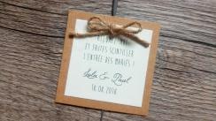 Etiquette pour cierge magique bougie scintillante Faites scintiller l'entrée des mariés mariage thème champêtre - toile de jute - gamme mariage champêtre