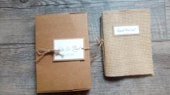 Livret d'accueil mariage et son coffret mariage thème champêtre - toile de jute - gamme mariage champêtre 3