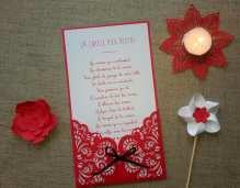 Jeu de mariage photos de mariage rouge et blanc