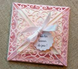 Pochette pour les larmes de joie mouchoirs pour les larmes de bonheur mariage